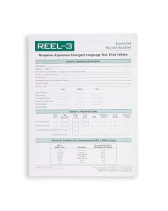 REEL-3 Profile/Examiner Record Booklets (Pack of 25)