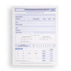 ADI-R Comprehensive Algorithm Form (Pack of 10)