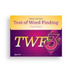 (TWF-3) Test of Word Finding, Third Edition
