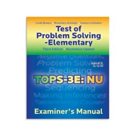 (TOPS-3E:NU) Test of Problem Solving - Elementary, Third Edition Normative Update