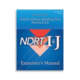 (NDRT) Nelson-Denny Reading Test, Forms I & J