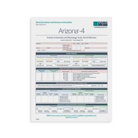 Arizona-4 Word and Sentence Articulation Record Form (Pack of 25)