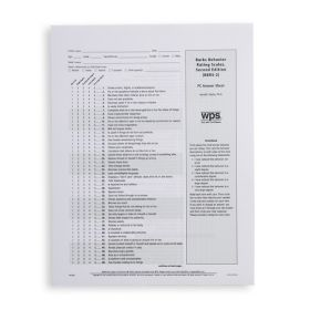 BBRS-2 PC Answer Sheet (Pack of 25)