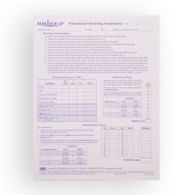BRIEF-P Scoring Summary/Profile Forms (Pack of 25)
