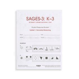 SAGES-3 K-3 Nonverbal Reasoning Student Response Booklets (Pack of 10)