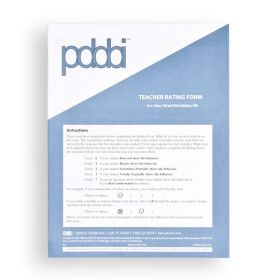 PDDBI Teacher Rating Form (Pack of 25)