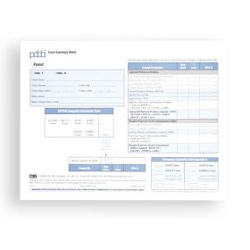 PDDBI Parent Score Summary Sheets (Pad of 25)
