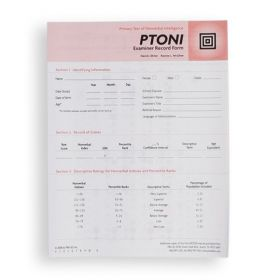PTONI Record Form (Pack of 25)