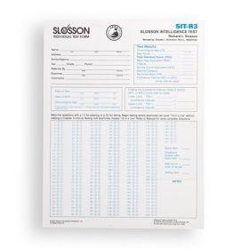 SIT-R3 Score Sheets (Pad of 50)