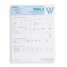TEWL-3 Form B  Administration/Record Booklet  (Pack of 10)