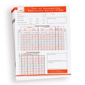 TIPS Record Form (Pack of 25)
