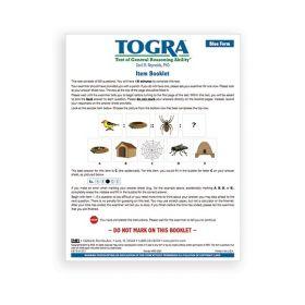 TOGRA Blue Reusable Item Booklet (Pack of 10)