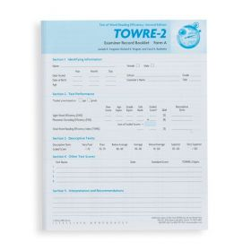TOWRE-2 Examiner Record Booklet, Form A (Pack of 25)