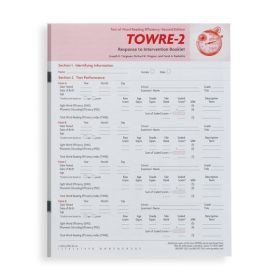TOWRE-2 Response To Intervention Booklet (Pack of 25)