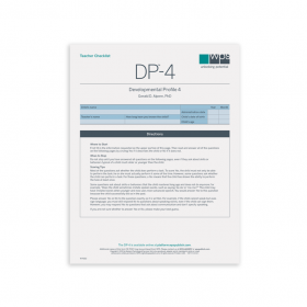 DP-4 Teacher Print Checklist (Pack of 25)