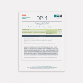 DP-4 Spanish Parent/Caregiver Print Checklist (Pack of 10)